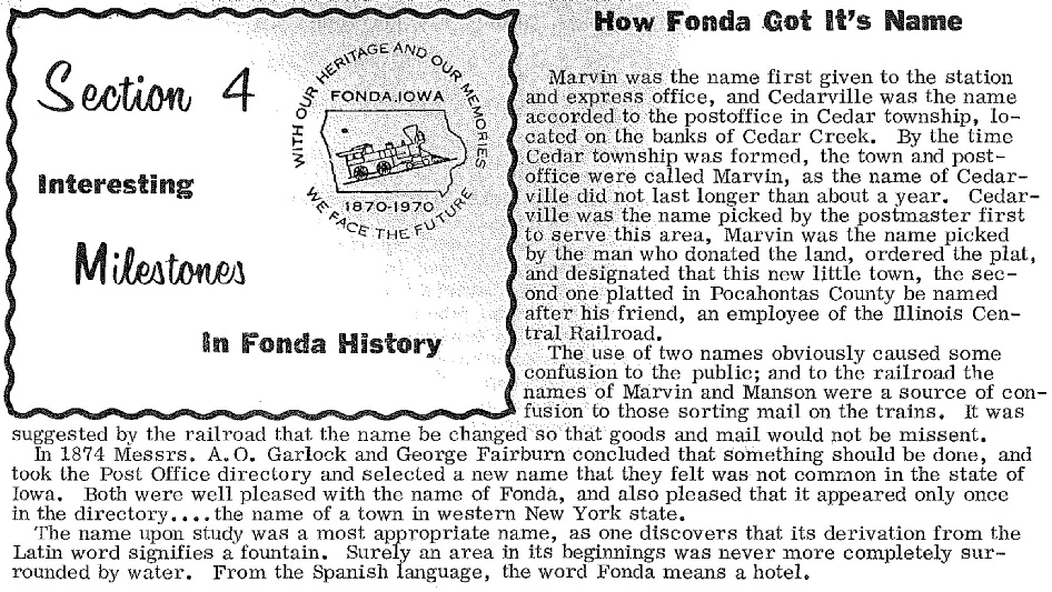 How Fonda Got Its Name